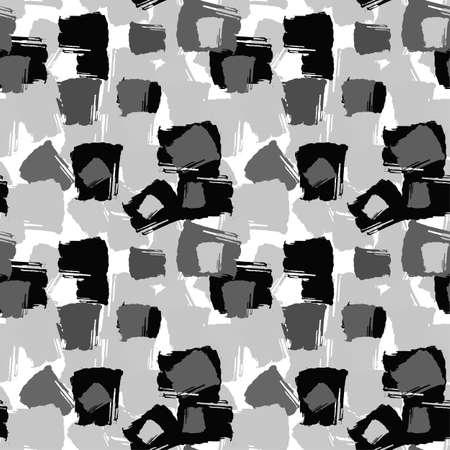Textile répétitif sans couture, motif de traits de brosses à l'encre dans le style de texture grunge doodle. Design à la mode, fond aquarellé pour un logo, des cartes, des invitations, des affiches, des bannières.