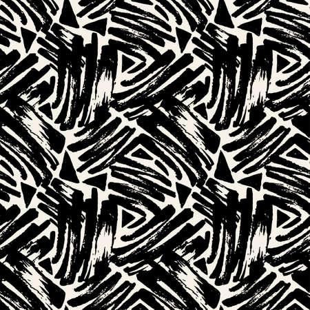 Brush pen textile doodle pattern grunge texture.