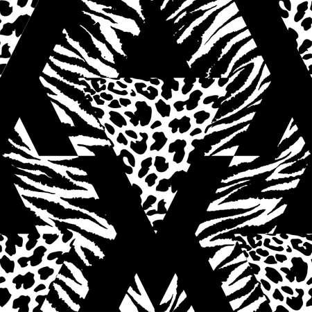 Naadloze herhaling van textiel-, inktpastestroken patroon in doodle-grunge textuur stijl. Handendrawn trendy design, waterverf blote achtergrond voor een logo, kaarten, uitnodigingen, posters, banners