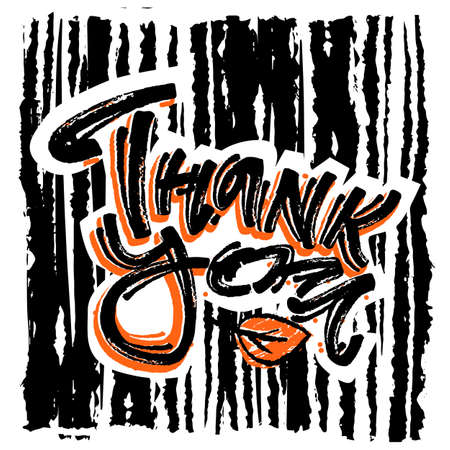 thank you handwritten vector chalk poster perfect for invitations