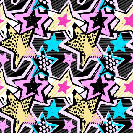 Colorful stars pattern.
