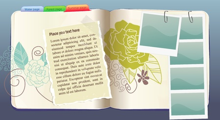 Vector Notebook with flower pattern Illustration