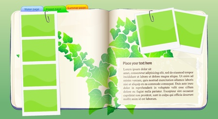 Vector Notebook with forest pattern Illustration