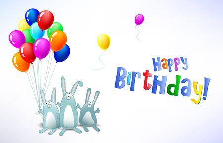 blow up:  Happy Birthday card horizontal