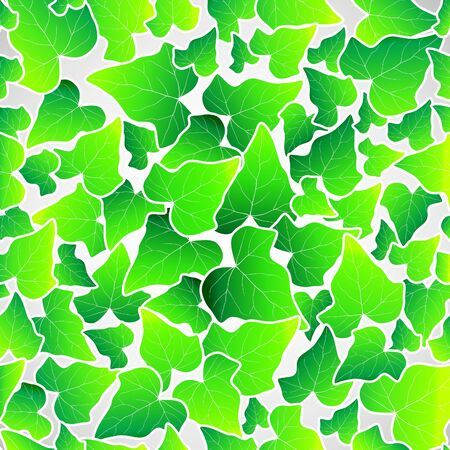 Vector green leaf seamless background wallpaper
