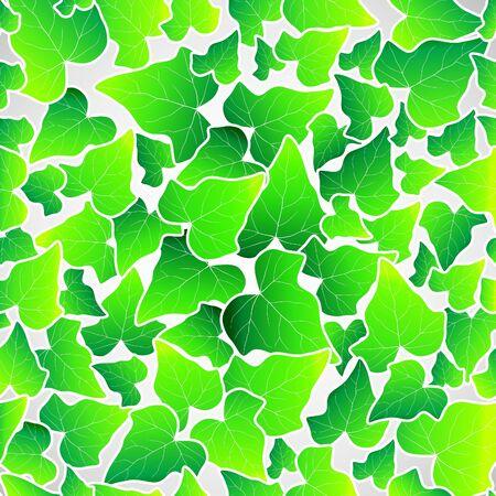 Vector green leaf seamless background wallpaper