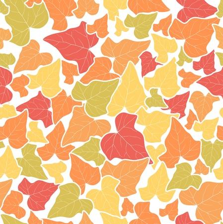 Vector autumn leaf seamless background