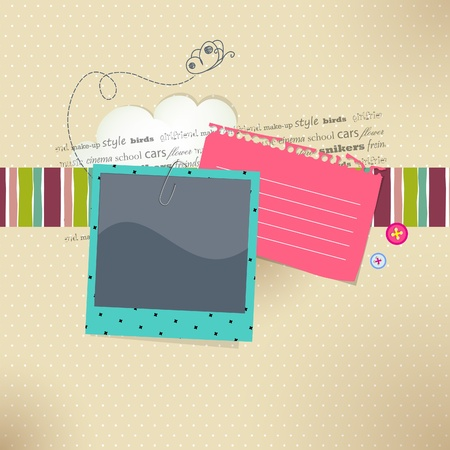 card with place for photo and text  Vector