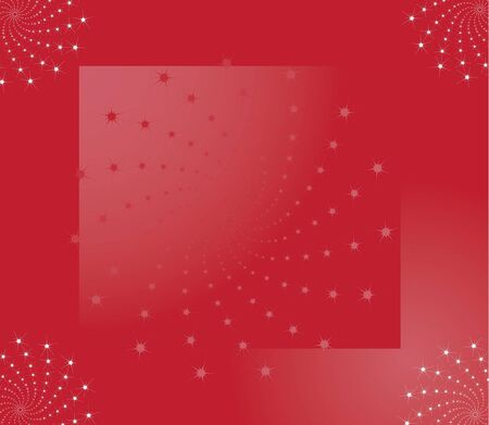 Abstract red background with stars Stock Photo