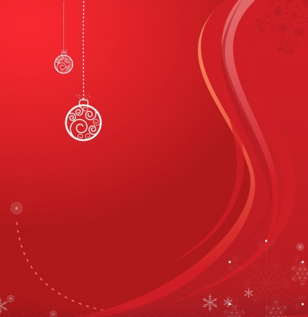 Christmas backround with christmas balls and various snowflakes