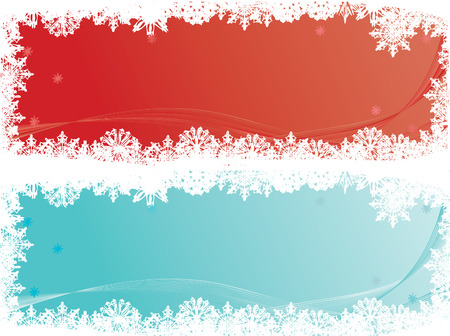 Set of two christmas banners