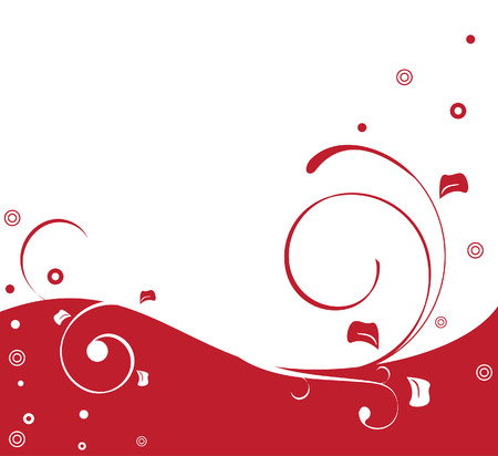 Red and white duotone background with swirls Illustration