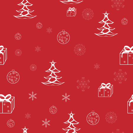Red seamless christmas pattern Vector