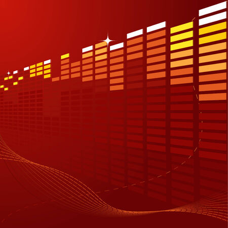 Abstract deep red techno background with bars