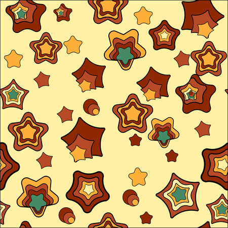 Seamless pattern with stars. Tile for endless background