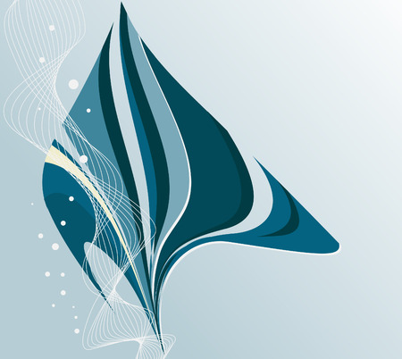 Abstract blue marine background with copy space Vector