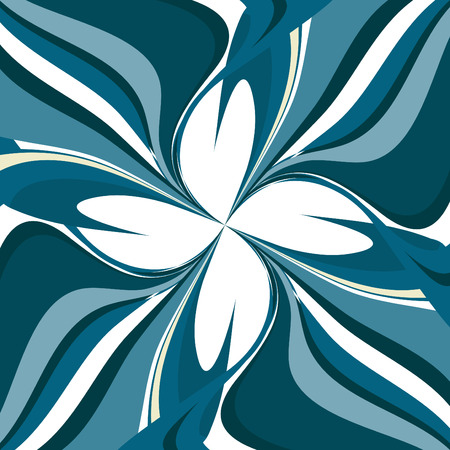 Abstract blue marine background with repetitive patterns Vector