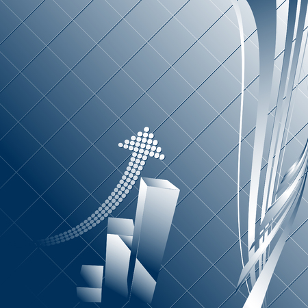 Abstract vector background with a graph Vector