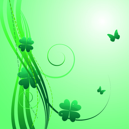 Green background for St.Particks day Vector