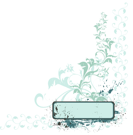 Grunge floral background with copy space Stock Vector - 4361672