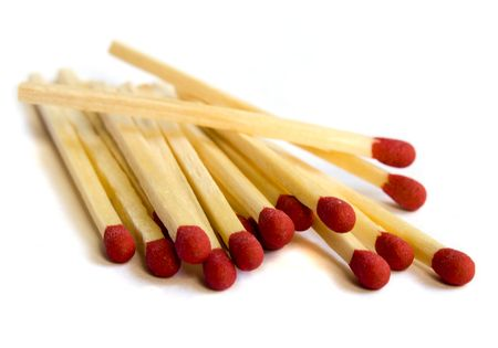 Close up of matches