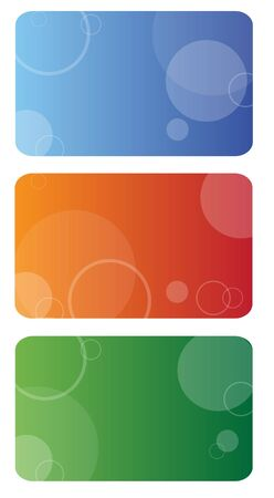Set of three business cards Stock Photo - 4932538