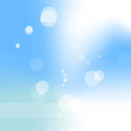 Abstract light blue background with circles