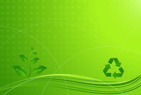 Light green modern eco background with recycling sign