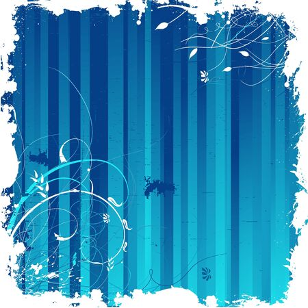 Dark blue grunge elegant floral background