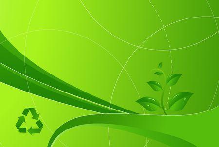 Eco green modern background Stock Photo
