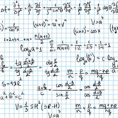 integral: Azulejos y baldosas para un sinf�n de fondo. Patr�n sin problemas matem�tico  Vectores