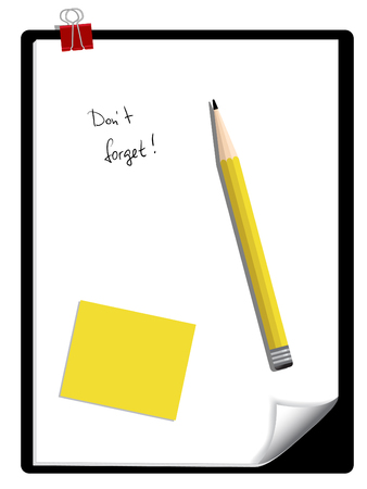 Notepad and a pencil Stock Vector - 6397536