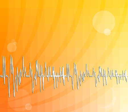oscilloscope: Abstract background with waveforms Illustration