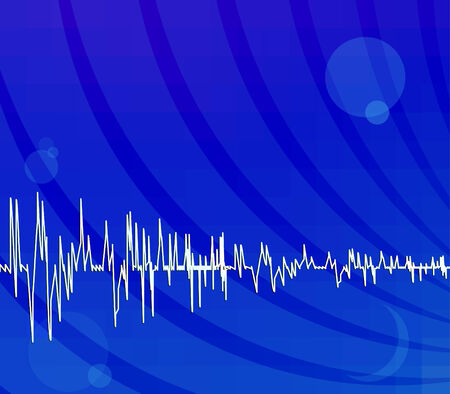 audiowave: Bright blue abstract techno background Illustration