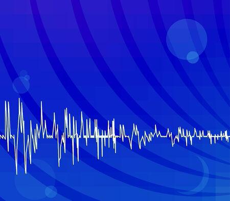 oscilloscope: Bright blue abstract techno background Illustration