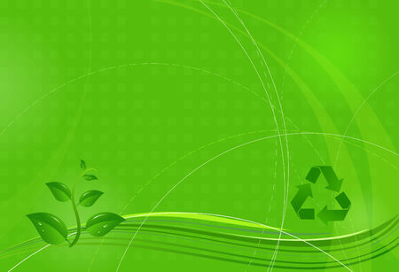 Bright green eco modern background Illustration