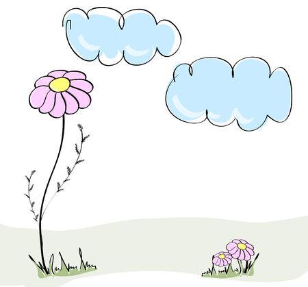 Cute spring hand drawn illustration