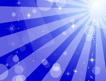 Abstract blue background with sunbeams