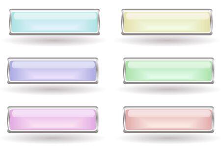 Set of six light buttons