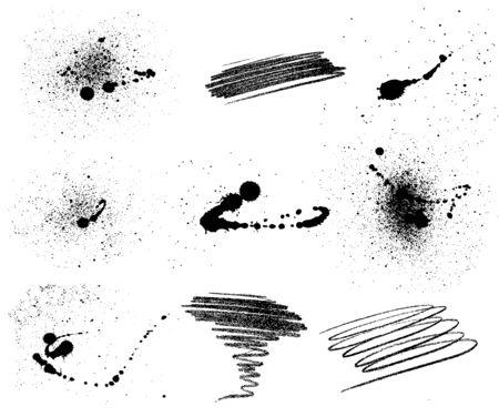 blemish: Set of nine grungy elements