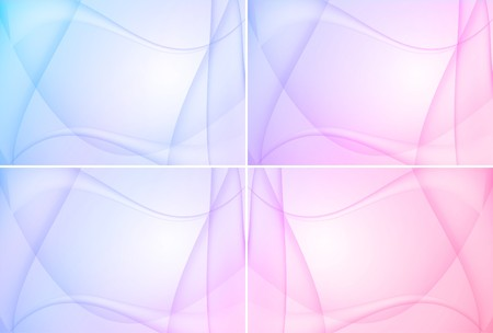 Set of four colorful backgrounds