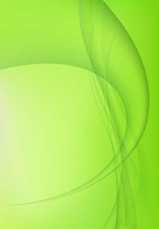 Green abstract bright wavy background