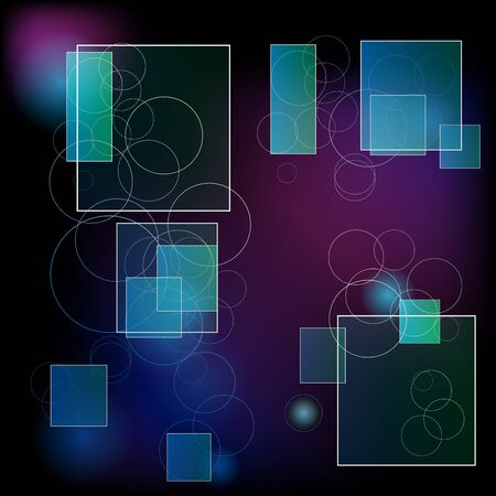Abstract dark background with rectangles Stock Photo