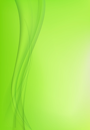 Abstract green background with waves Vector