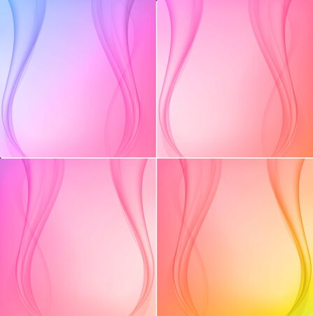Set of four colourful backgrounds Illustration
