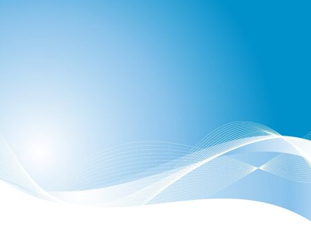 Beautiful blue bright waving background Stock Vector - 12014510