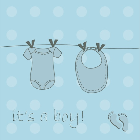 Cute baby boy background Vector