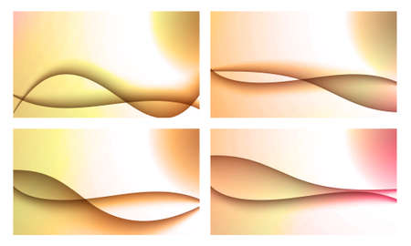 Set of four beautiful colourful wavy backgrounds Stock Photo - 12195473