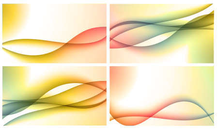 Set of four beautiful colourful wavy backgrounds Stock Photo - 12195472