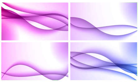 Set of four beautiful colourful wavy backgrounds Stock Photo - 12195471